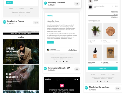 HTML Responsive Email Template in PSD, Sketch