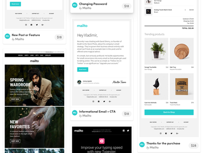 HTML Responsive Email Template in PSD, Sketch responsive template html template product launch ecommerce fashion purchase newsletter sendgrid mailchimp email email templates