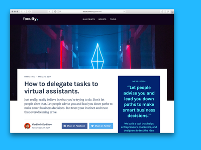 Foculty — Create your business by doing clear instructions tutorial instruction lesson guide course material design landing business