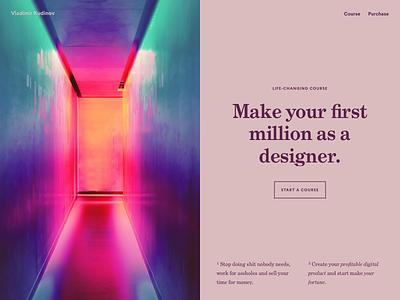 Make your first million as a designer money design course
