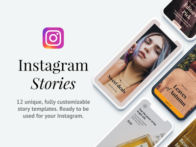 Instagram Story Template — Napali Bundle marketing sketch psd discount sale ecommerce social media pack social media branding instagram story template instagram stories