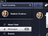 Facebook Concept based on Pandora UI
