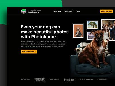 Photo Editor Website Design landing page design ai photo editor photo photo editing landing page website design