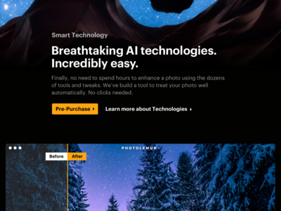 Landing Page Design for Photo Editor