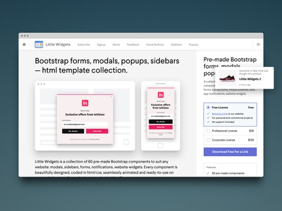 Little Widgets 2: Bootstrap forms, modals, popups, sidebars