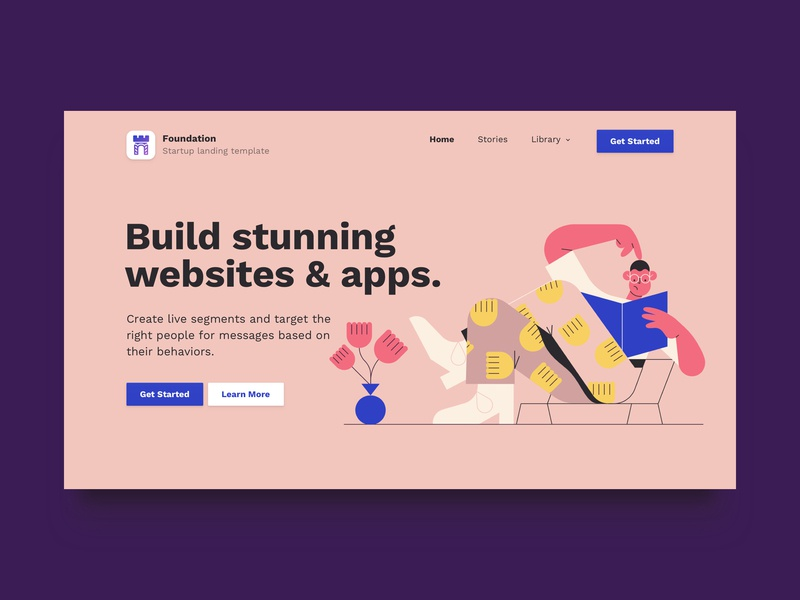 Foundation: Startup Landing Page Bootstrap Website Template