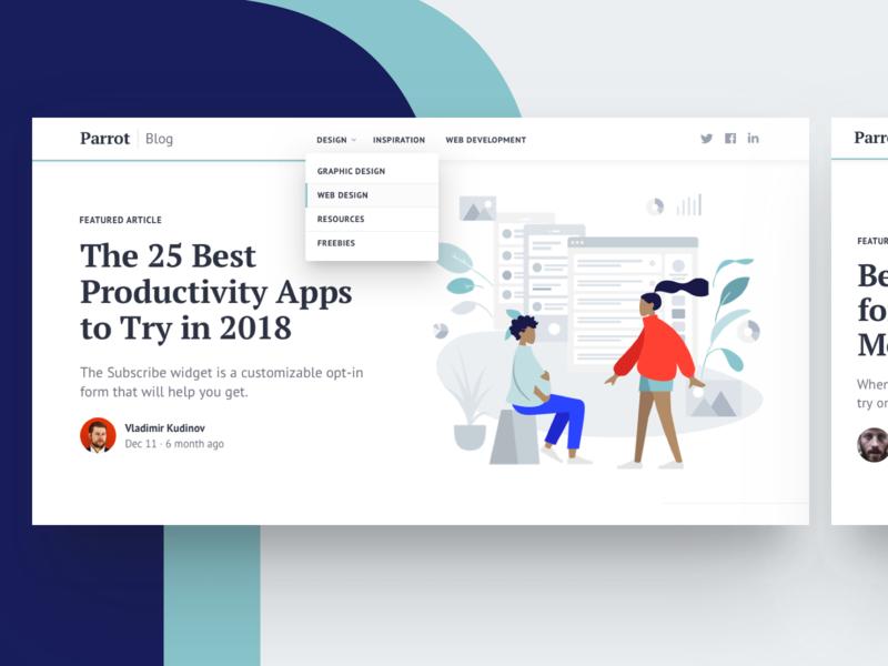 Parrot: Blog Bootstrap Template