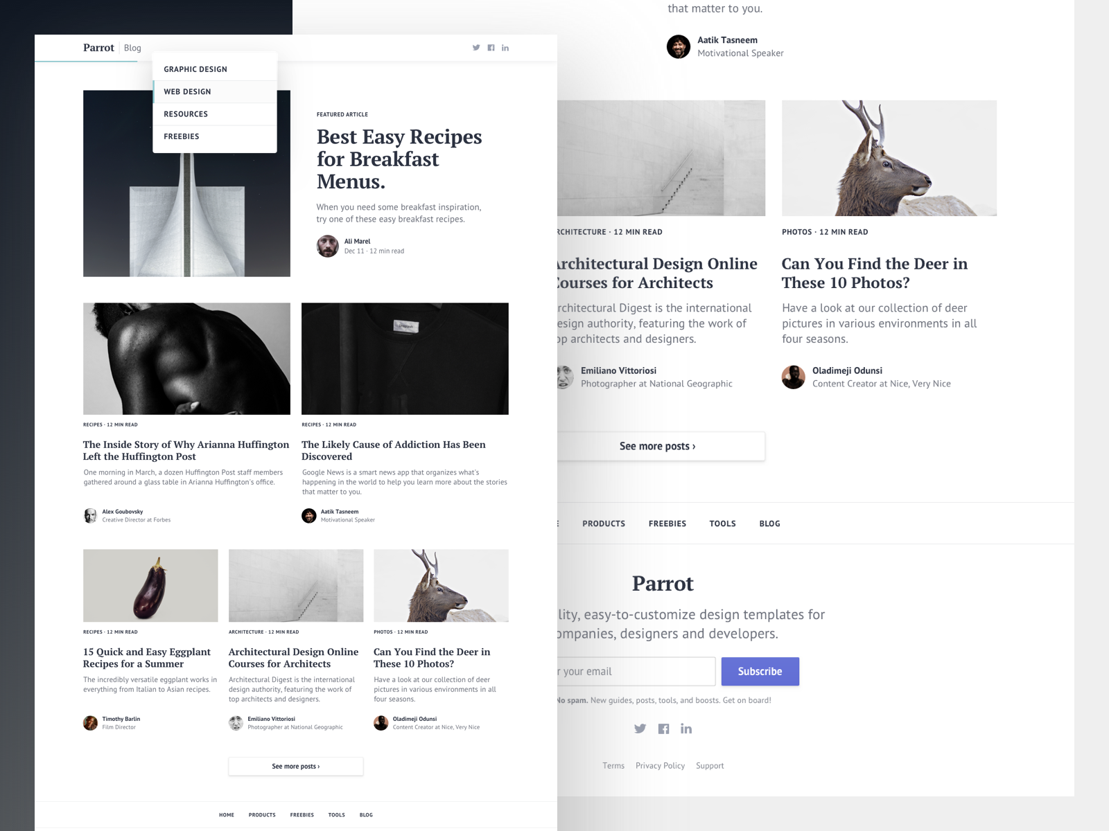 Blog bootstrap template