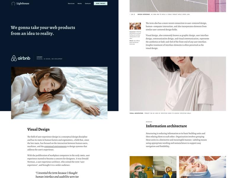 Lighthouse: Agency Website Template