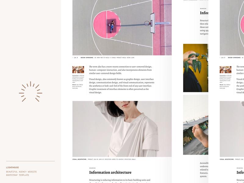 Lighthouse: Agency website portfolio template