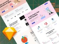 Foundation: Landing Page Design Freebie