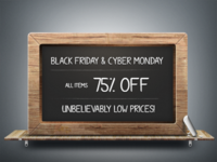 75% Off: Black Friday & Cyber Monday PSD