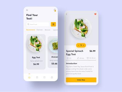 Food Order App UI ux ui resturant product delivery order food fevourite design cards application