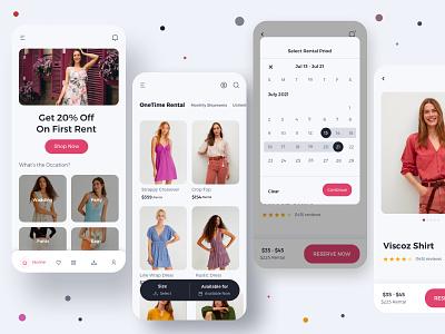 Cloth Rental App Concept shop cloths app online shoping rent cloth rental app rental app booking branding interaction dailyuichallenge mobile interface ui ux mobile app design