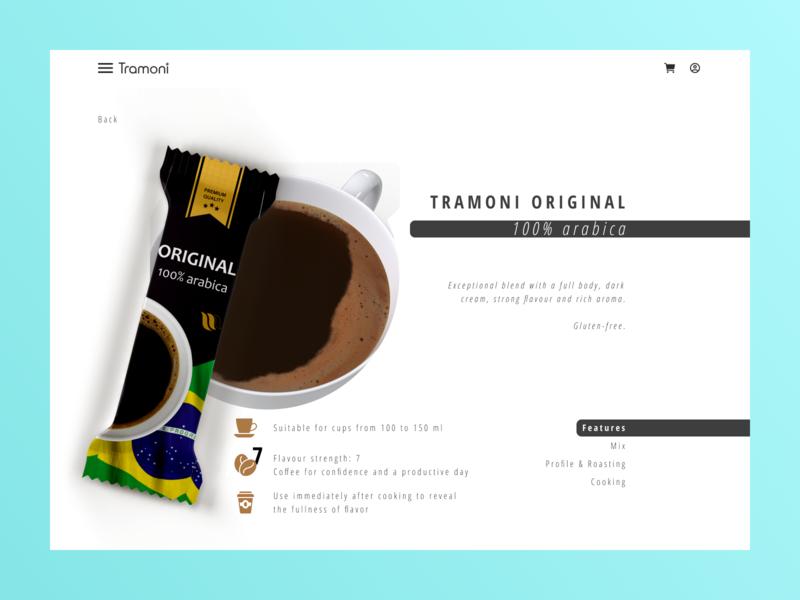 """Tramoni coffee"" concept pink blue bean coffee bean coffee cup coffee food design art minimalism website web design minimal web design"