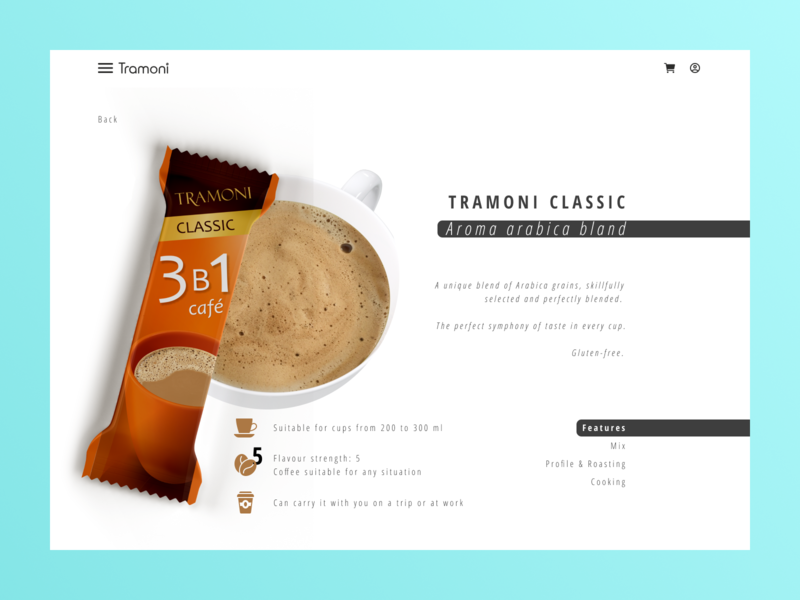 """Tramoni coffee"" concept minimalistic amarant crayola blue shot coffee cup сoffee bean сoffee food design art minimalism website web design minimal web design"