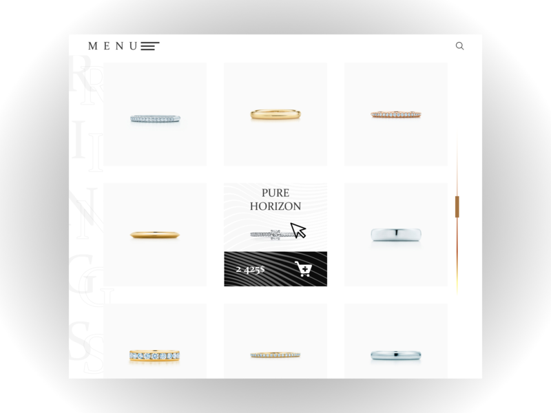 ARTEFACT jewelry I Web Design Concept product page catalog circle lines the jewels gold the necklace the pendant bracelet earrings necklace jewelry minimalism website web design minimal web mannequin manikin design