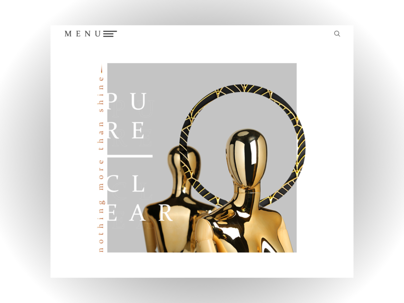 ARTEFACT jewelry I Web Design Concept style nimbus circle lines the jewels gold pendant bracelet earrings necklace jewelry minimalism website web design minimal web mannequin manikin design