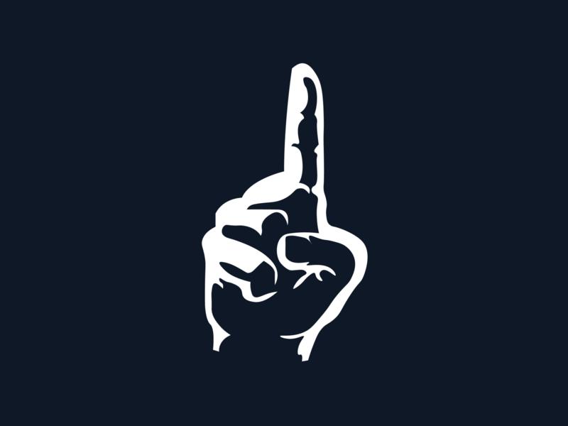 Kristoffersson's Symbol #1 Finger minimalistic minimalist finger number 1 branding adobe illustrator noble notch design bmbadi johbot kristoffersson johan worldrx