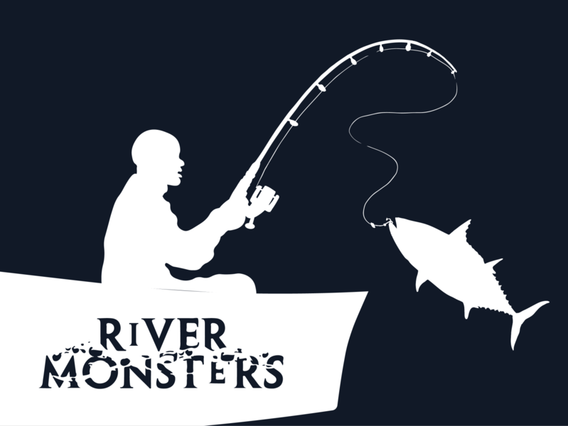 River Monsters Tribute tuna atlantic bonitos monster river documentary tv show fish animal planet vector weekly warm-up illustration adobe illustrator design noble notch bmbadi jeremy wade river monsters
