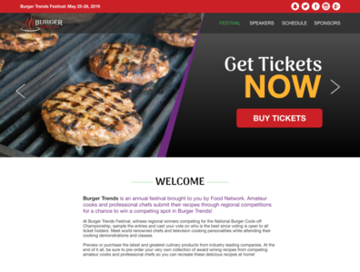 Burger Trends Web Landing Page