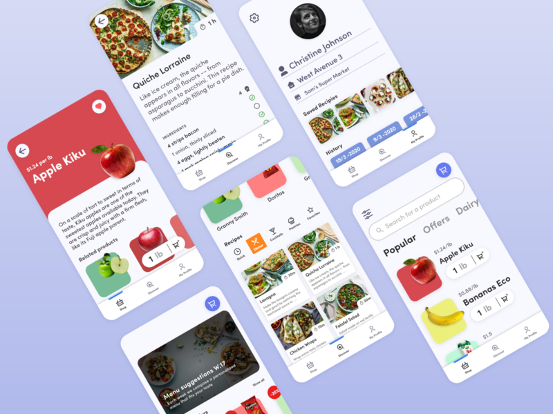 Grocery App Concept - Multi Frame