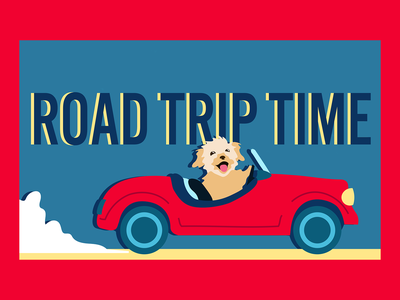 Road Trip TIme flat illustrator design illustration