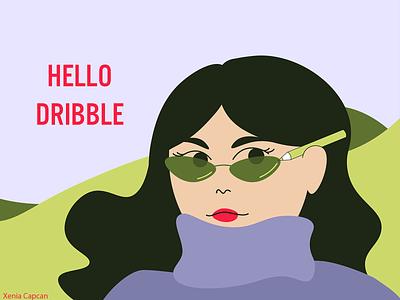 hello dribble design illustrator flat illustration