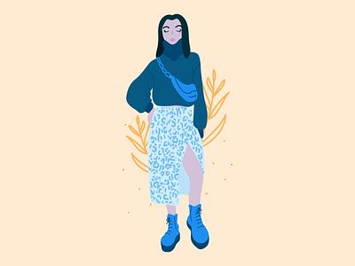 Fashion Girl One fashion illustrator flat illustration