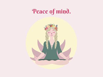 Peace of mind. design flat illustrator illustration