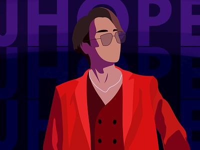 J-Hope fashion illustrator illustration flat