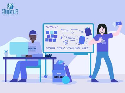 Cascadia Student Life Hiring Campaign Illustration vector illustrator flat illustration