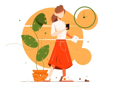 The illustration shows a girl with a phone drawn teenager smart sketch online message graphic doodle white female mobile cellphone cell girl young woman illustration smartphone phone person