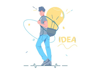Guy and idea sign
