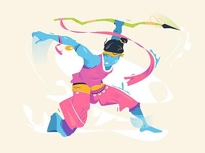 Character fighter graphic design gamecharacter character branding ui logo business person cartoon background design vector illustration