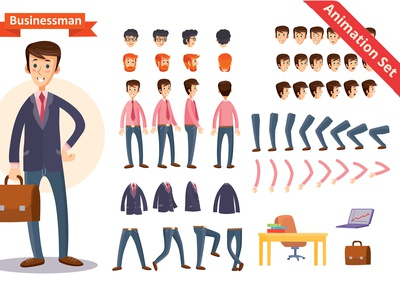 Businessman Vector Animation Set