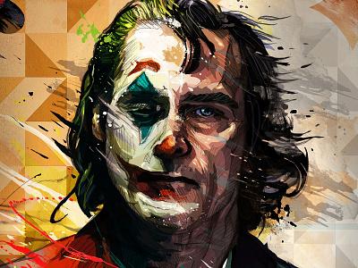 Joaquin Phoenix Joker artistic Poster symbol fashion fame actor premiere star famous cinema talent entertainment artist hollywood dress celebrity vector illustration design film movie joker