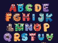Cute Halloween Inspired Alphabet designs.