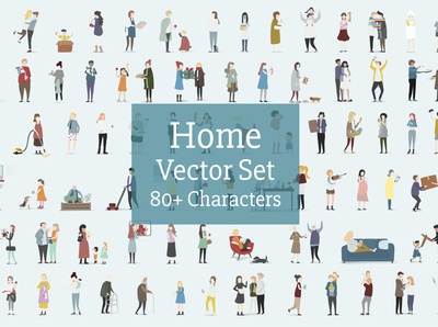 Home Character Vector set