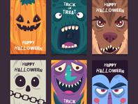 Minimal Halloween Poster Set