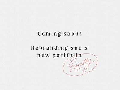 Coming soon portfolio website branding design handlettering type lettering