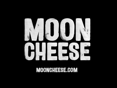 Moon Cheese identity cheese moon branding logo calligraphy brush typography handlettering type lettering