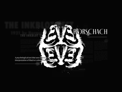 Level - Rorschach poster logo graphic design ink rorschach branding illustration type lettering