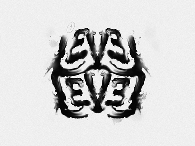 Level - Rorschach rorschach ink design illustration print poster logo typography handlettering type lettering