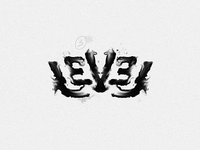 Level - Rorschach print rorschach branding illustration poster logo typography handlettering type lettering