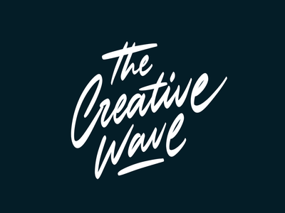 The Creative Wave branding instagram print logo calligraphy brush typography handlettering type lettering
