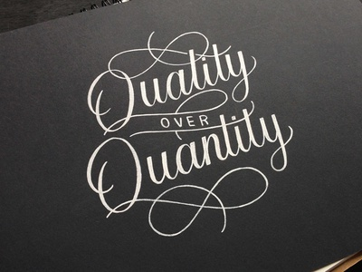 quality over quantity inked