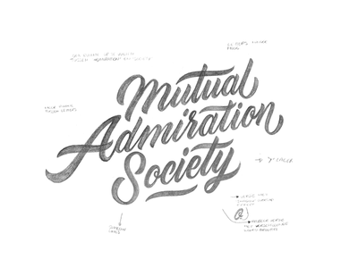Mutual Admiration Society branding concept print instagram paint calligraphy brush logo typography type lettering handlettering