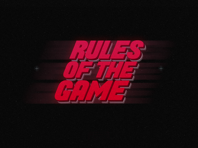 'Rules Of The Game'