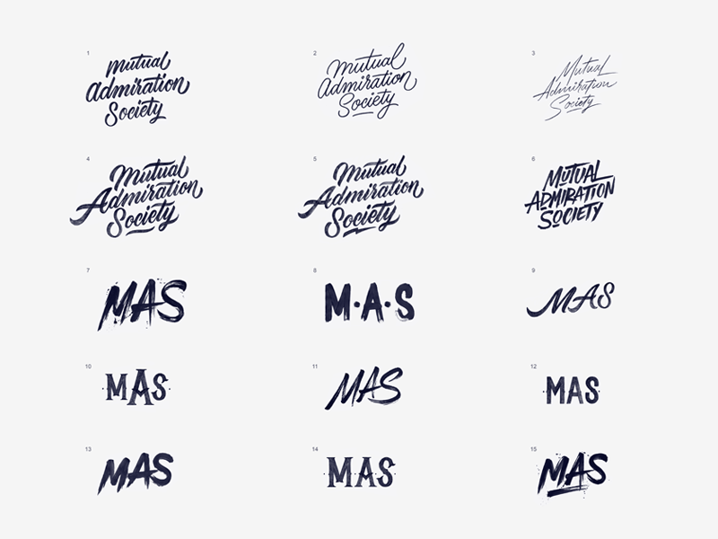 'Mutual Admiration Society' Concepts branding concept print instagram paint calligraphy brush logo typography type lettering handlettering
